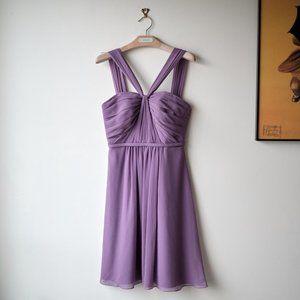 • David's Bridal • Chiffon Bridesmaid Dress Sz 0